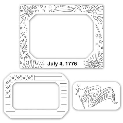 """Color-Me"" Magnet Frame - 4"" x 5.25"" Rectangle 3 in 1"