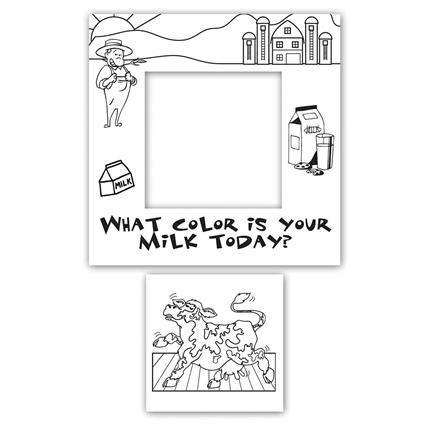 """Color-Me"" Magnet Frame - 5.5"" x 5.5"" Rectangle 2 in 1"