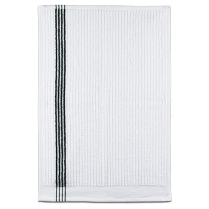 "Junior By Towel - 16"" x 24"" 2.7 lbs./doz. White w/Black Stripes"