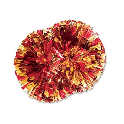 "Metallic Show Pom - 4"" 2-Color Mix"