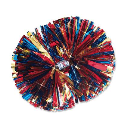"Metallic Show Pom - 4"" 3- Color Mix"