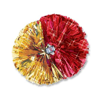 "Metallic Show Pom - 4"" 2-Color Contrasting Ends"