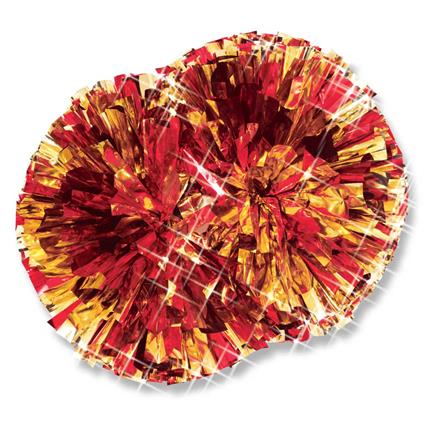 "Metallic Show Pom - 5"" 2-Color Mix"