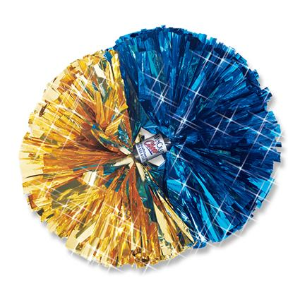 "Metallic Show Pom - 5"" 2-Color Contrasting Ends"