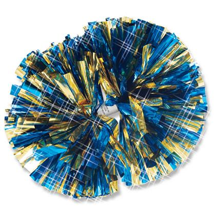 "Metallic Show Pom - 6"" 2-Color Mix"