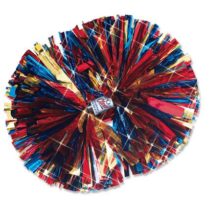 "Metallic Show Pom - 6"" 3-Color Mix"
