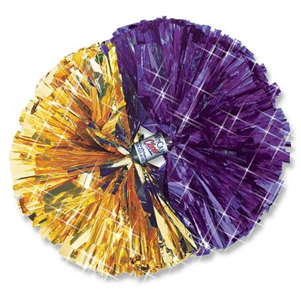 "Metallic Show Pom - 6"" 2-Color Contrasting Ends"