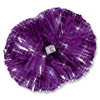 "Metallic Show Pom - 6"" Solid Color"