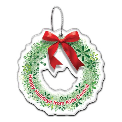 Custom Shape Acrylic Holiday Ornaments up to 6 sq. inches