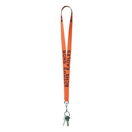 "Woven Lanyard w/swivel hook - .75"" wide large split ring"