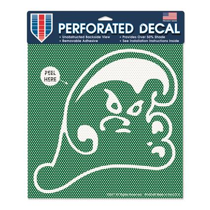 "Perforated Decal - up to 12"" x 12""  Custom Shape"