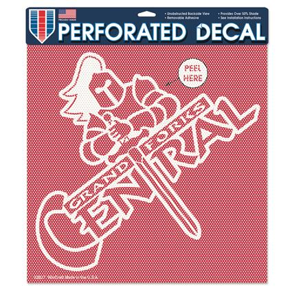 "Perforated Decal - up to 17"" x 17""  Custom Shape"