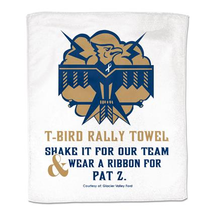 "Rally Towel, White - 15"" x 18"" 1.48 lbs./doz."