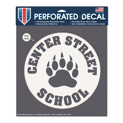 "Perforated Decal - approx. 12"" Round"