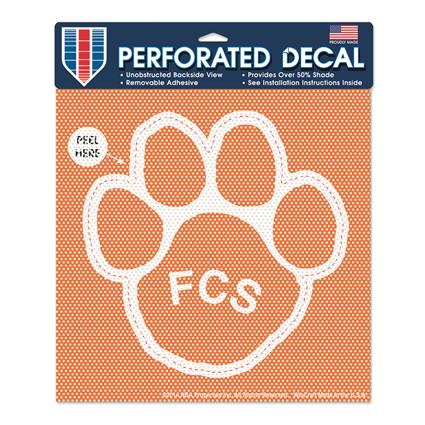 "Perforated Decal - 12"" Square"