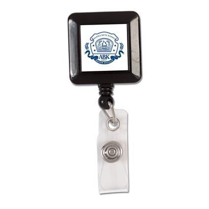 "Square Badge Reel - 1.25"" square"
