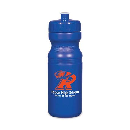 Poly Clear Fitness Bottle - 24 oz.  Solid Color Bottle