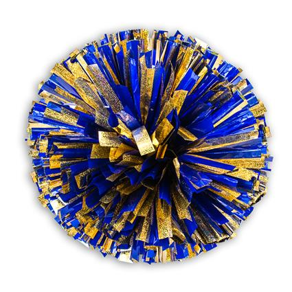 "Holographic Show Pom - 5"" Gold Holographic w/1-Color Metallic"