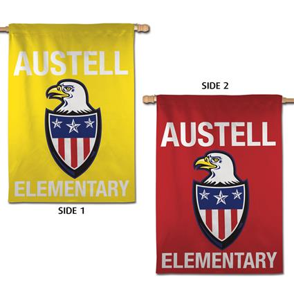 "2-Sided Vertical Flags - 28"" x 40"""