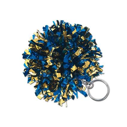 SparKey Key Chain Pom 2-Color Metallic Mix
