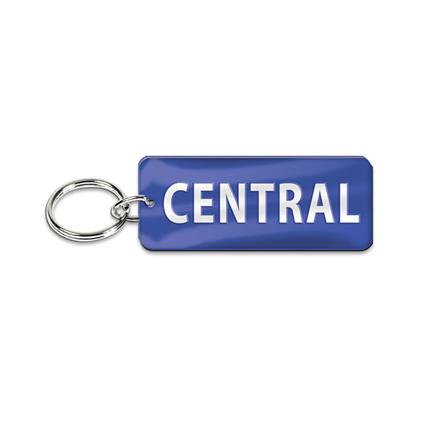 "Inlaid Key Ring - 0.875"" x 2.25"" Rectangle"