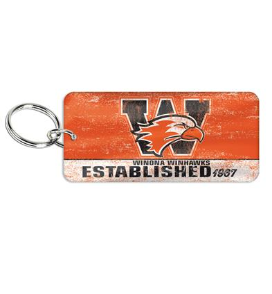 "Glossy Print Key Ring - 1.496"" x 3.261"" Rectangle"