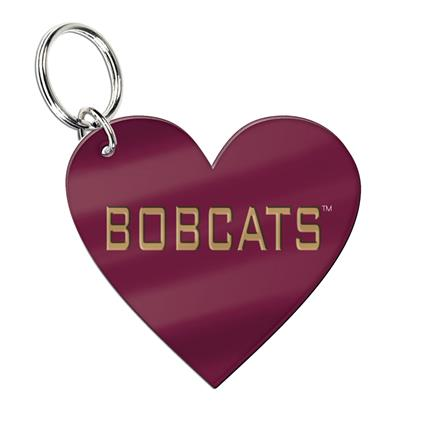 "Glossy Print Key Ring - 1.96"" x 2.80"" Heart"