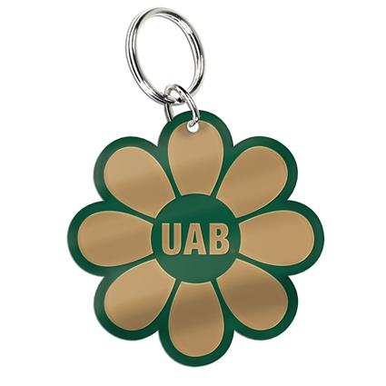 "Inlaid Key Ring - 1.996"" x 1.996"" Flower"